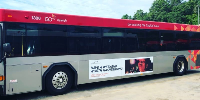 Bus Ads in Raleigh, North Carolina