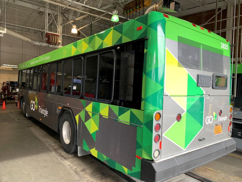 Buss wraps Raleigh, NC