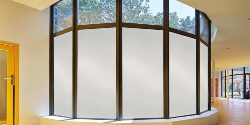 Frosted Glass Window Film in Raleigh, North Carolina
