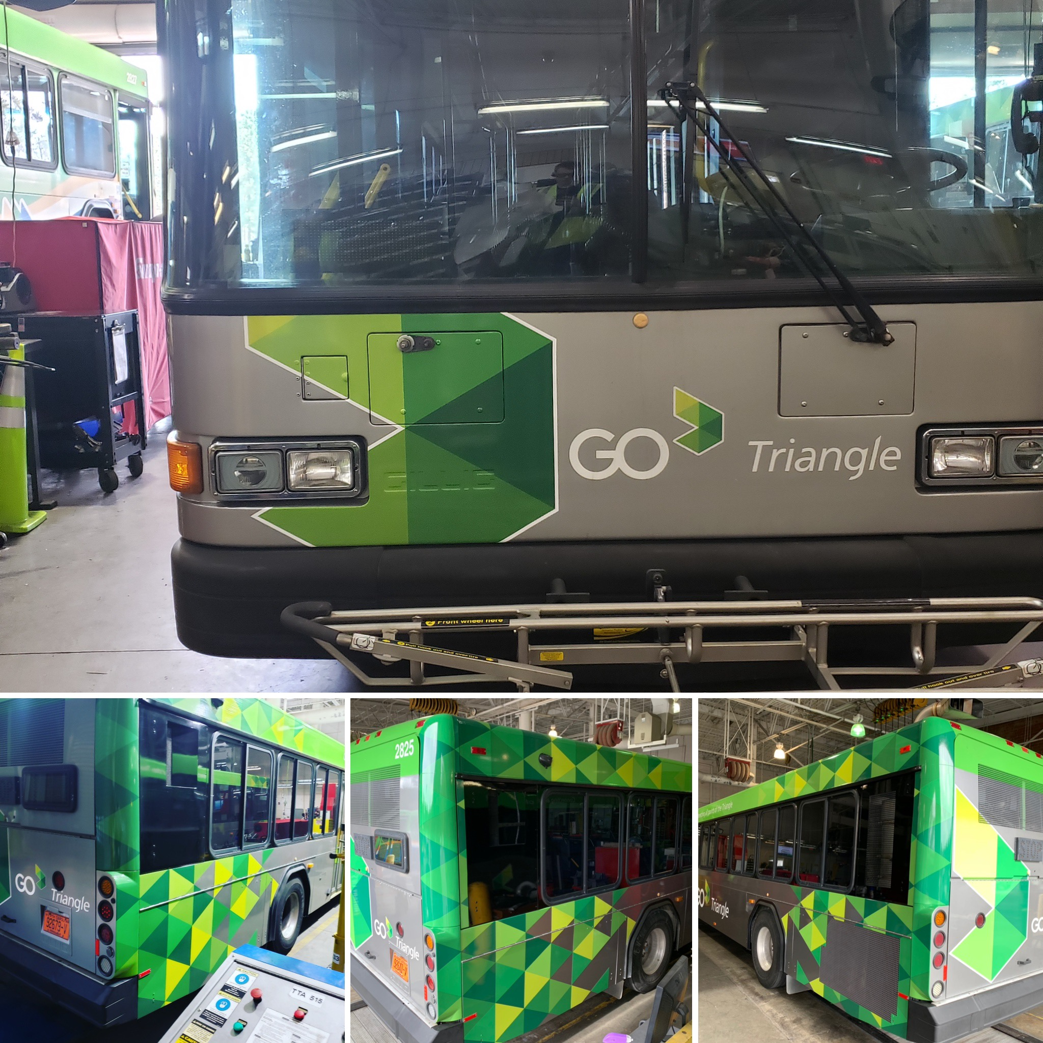 Go Triangle Bus wrap Raleigh, NC