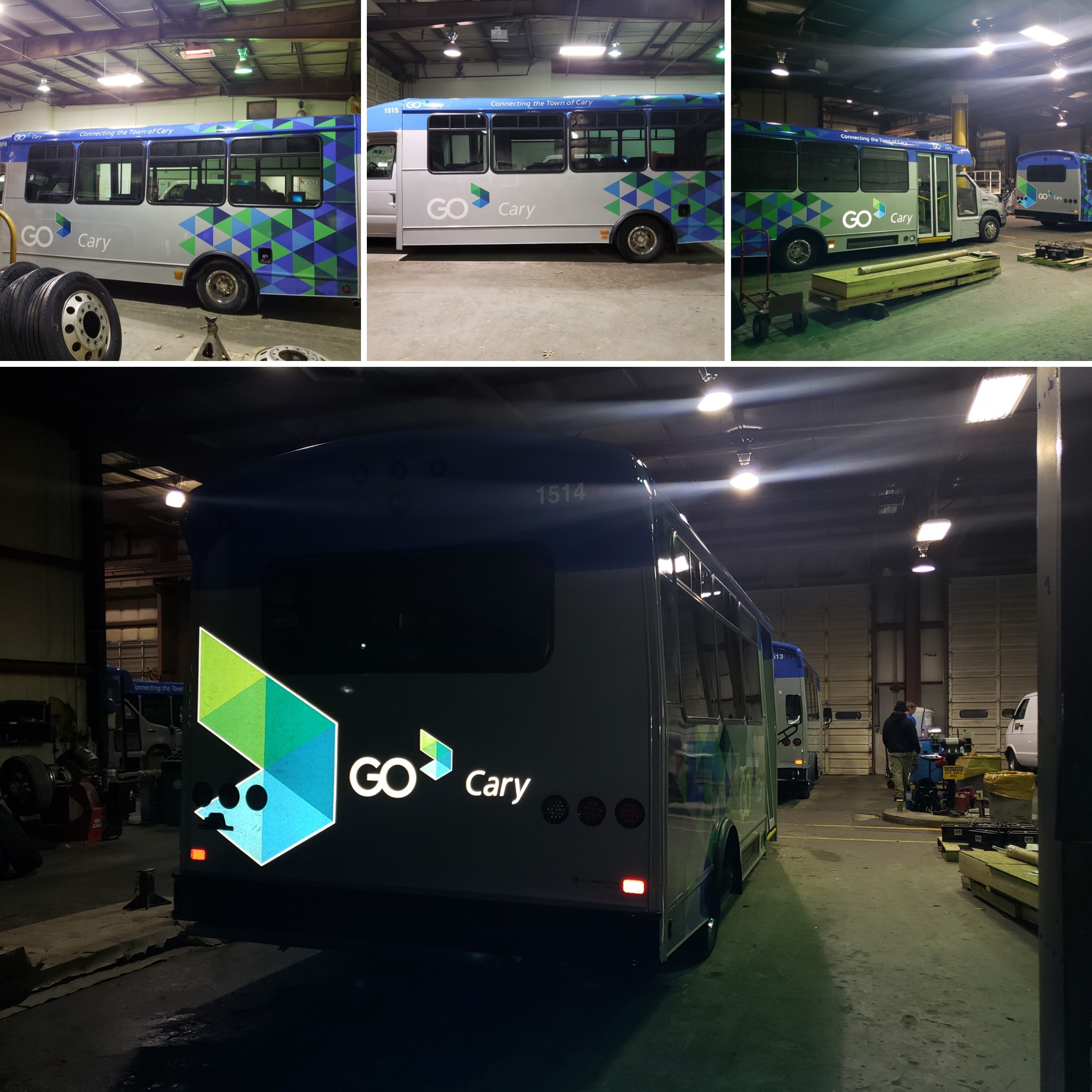 Go Cary Bus wraps Raleigh, NC