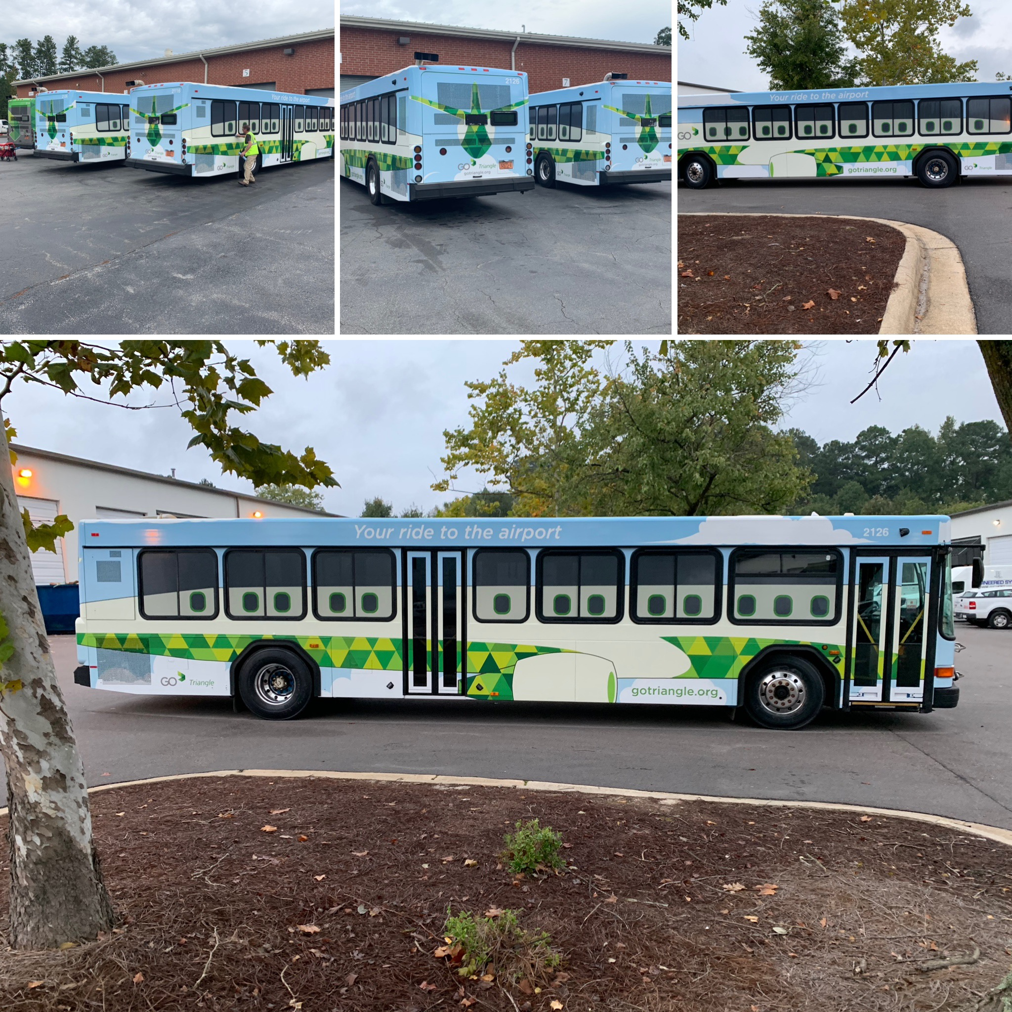 Airport Transit wraps Raleigh, NC