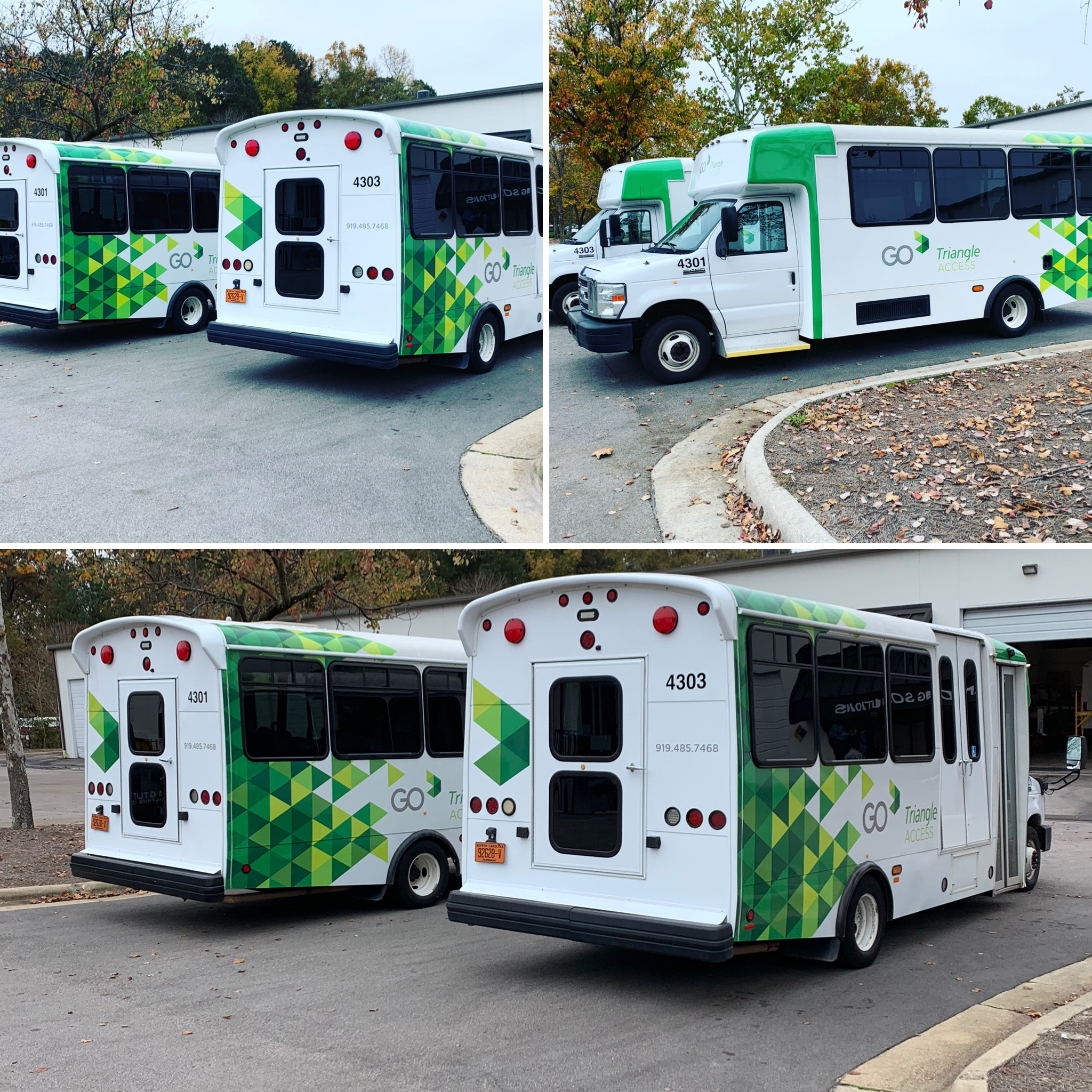 Bus shuttle wraps Raleigh, NC